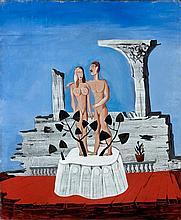 Victor BRAUNER 1903 - 1966 ADAM ET EVE - 1931 Huile sur toile