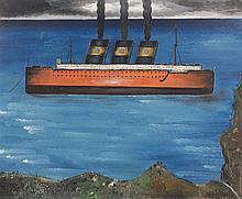 Yves TANGUY 1900 - 1955 LE BATEAU - 1925-1926 Huile sur toile