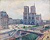 Maximilien LUCE 1858 - 1941 NOTRE DAME - 1899 Huile sur toile