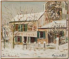 Maurice UTRILLO 1883 - 1955 LE LAPIN AGILE - 1937 Huile sur toile