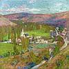 Henri MARTIN 1860 - 1943 PAYSAGE DU LOT, LABASTIDE-DU-VERT DU HAUT DU PARC DE MARQUAYROL - Circa 1905 Huile sur toile