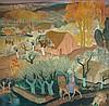 Antoine CARTE, dit ANTO CARTE 1886 - 1954 MOIS DE MARIE Huile sur toile