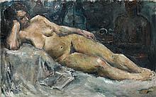 Jean FAUTRIER 1898 - 1964 FEMME NUE - Circa 1919 - 1920 Huile sur toile
