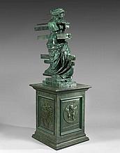 Salvador DALI 1904 - 1989 METAMORPHOSE TOPOLOGIQUE DE LA VENUS DE MILO TRAVERSEE PAR DES TIROIRS - 1964 Bronze à patine vert antique