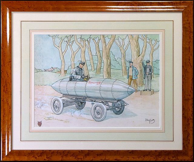 Harry ELIOTT (Hermet Charles Edmond) 1882 - 1959 La Jamais Contente de Camille Jenatzy