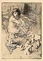 Jacques VILLON (Damville, 1875- Puteaux, 1963) LES POUPEES DE MINNE, 1907