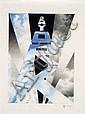 Erik BULATOV (né en 1933) NEW YORK, 1989 Dessin aux crayon de couleurs et mine de plomb sur papier
