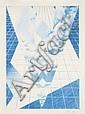 Erik BULATOV (né en 1933) NEW YORK, 1989 Dessin aux crayon de couleur sur papier