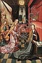 Ecole flamande du début du XVIIe siècle  L'Annonciation Huile sur panneau, parqueté