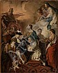 Pierre Subleyras Saint-Gilles-du-Gard, 1699 - Rome, 1749 Le duc de Saint-Aignan décorant le prince Vaini de l'ordre du Saint-Esprit...
