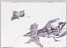 KOOL KOOR (né en 1963) K.S.13, 1980 Feutre et encre sur papier