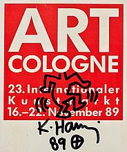 Keith HARING (1958-1990) SANS TITRE, 1989 Marqueur sur affichette de ART COLOGNE