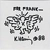 Keith HARING (1958-1990) SANS TITRE, 1988 Dessin au marqueur sur carton fin