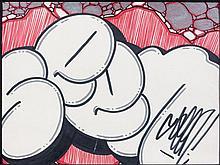 SEEN (Richard Mirando dit) (né en 1961) SANS TITRE Dessin aux feutres de couleurs sur papier