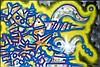 PHASE II (M.L. MARROW) (né en 1958) MAJESTIC P Peinture aérosol sur toile