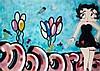 BLADE (Steve Ogburn dit) (né en 1958) BETTY BOOP (DOLORES), 1983 Peinture aérosol et marqueur sur toile