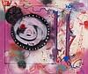 FUTURA 2000 (né en 1955) THE OUTBURST, 1989 Peinture aérosol et acrylique sur toile