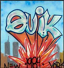 QUIK (Linwood A. Felton dit) (né en 1958) SANS TITRE, 1983 Peinture aérosol sur toile