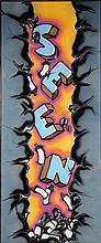 SEEN (Richard Mirando dit) (né en 1961) ROCK BOTTOM, 1984 Peinture aérosol sur toile