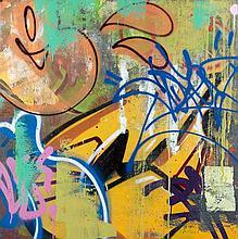 COPE 2 (Fernando Carlo dit) (né en 1968) GWOP, 2013 Peinture aérosol et acrylique sur plaque d'acier