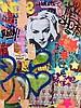 INDIE 184 (née en 1980) CALL THE SHOTS, 2012 Peinture aérosol, acrylique et collage sur toile