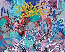 COPE 2 (Fernando Carlo dit) (né en 1968) SANS TITRE, 2013 Peinture aérosol et acrylique sur toile