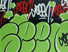 SEEN (Richard Mirando dit) (né en 1961) SANS TITRE (SIGNATURE SERIES), 2009 Peinture aérosol sur toile
