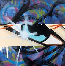 CRASH (John Crash Matos dit) (né en 1961) FEAR OF RELEASE, 2008 Acrylique et peinture aérosol sur toile