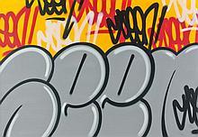 SEEN (Richard Mirando dit) (né en 1961) SANS TITRE, 2009 Acrylique et peinture aérosol sur toile