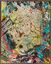 DELTA 2 (né en 1965) SANS TITRE, 1985 Technique mixte sur panneau d'isorel