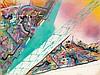 FUTURA 2000 & JONONE (nés en 1955 & 1963) SANS TITRE, 1992 Acrylique et peinture aérosol sur toile