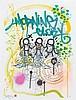 PSYCHOSE (né en 1969) MORNING GLORY Peinture aérosol sur sérigraphie en couleurs