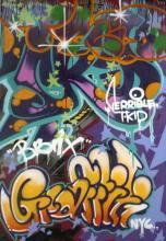 T-KID 170 (né en 1961) SANS TITRE Peinture aérosol sur toile