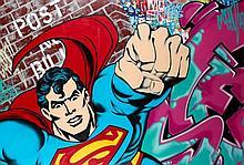SEEN (Richard Mirando dit) (né en 1961) SUPERMAN, 2007 Peinture aérosol et acrylique sur toile