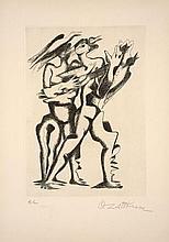 Ossip ZADKINE 1890 - 1967 O BATAILLES ! LA TERRE TREMBLE COMME UNE MANDOLINE - 1967COMME UNE MANDOLINE – 1967
