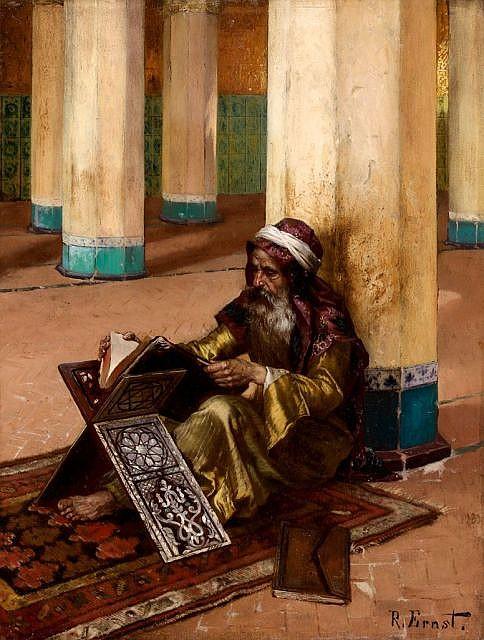 Rudolf ERNST (Vienne, 1854 - Fontenay-aux-Roses, 1932) La lecture du Coran