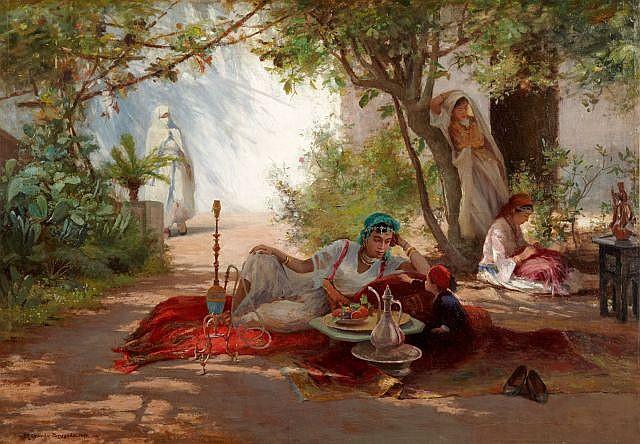 Ricardo BRUGADA Y PANIZO (1867 - 1919) L'heure du thé