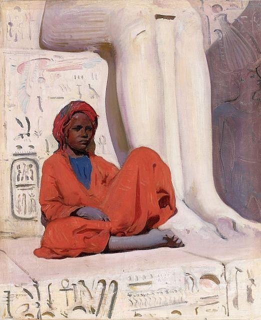 Jacques MAJORELLE (Nancy, 1886 - Paris, 1962) Jeune garçon au turban rouge, Egypte, circa 1914