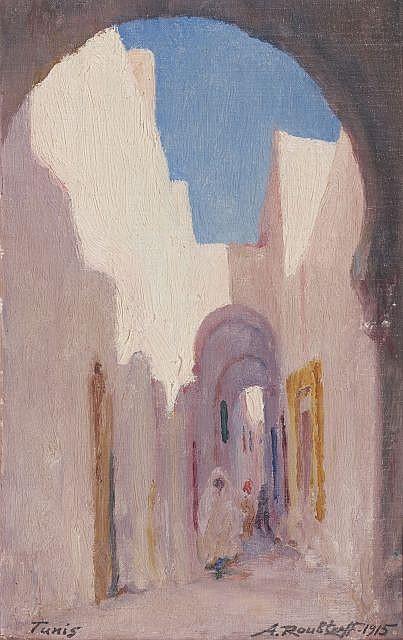 Alexandre ROUBTZOFF (Saint-Pétersbourg, 1884 - Tunis, 1949) Rues de Tunis