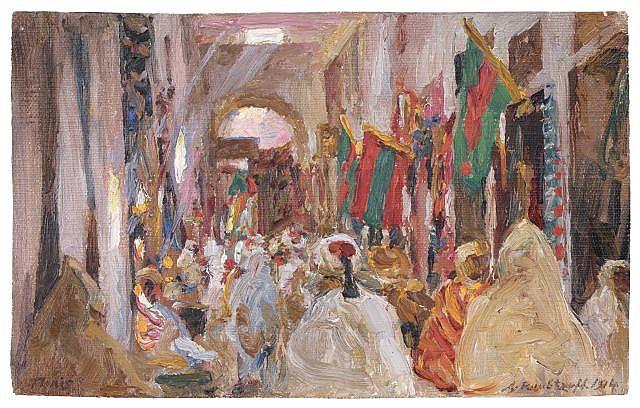 Alexandre ROUBTZOFF (Saint-Pétersbourg, 1884 - Tunis, 1949) Vue de Tunis