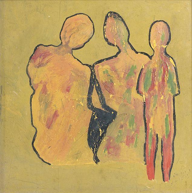 Mohamed DRISSI (Tétouan, 1946 - Paris, 2003) Femme aux trois visages