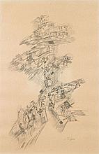 Camille BRYEN (1907 - 1977) COMPOSITION - 1971 Encre sur papier