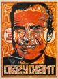 Shepard FAIREY (OBEY GIANT) (né en 1970) NIXON STAMP, 2001 Sérigraphie en couleurs