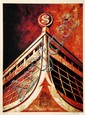 Shepard FAIREY (OBEY GIANT) (né en 1970) GLASS HOUSE CANVAS, 2010 Sérigraphie en couleurs