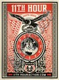 Shepard FAIREY (OBEY GIANT) (né en 1970) 11TH HOUR, 2007 Sérigraphie en couleurs