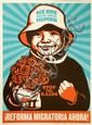 Shepard FAIREY (OBEY GIANT) (né en 1970) IMMIGRATION REFORM GIRL (SPANISH VERSION), 2009 Sérigraphie en couleurs