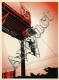 Shepard FAIREY (OBEY GIANT) (né en 1970) BAYSHORE BILLBOARD, 2011 Sérigraphie en couleurs
