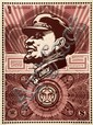 Shepard FAIREY (OBEY GIANT) (né en 1970) LENIN MONEY, 2003 Sérigraphie en couleurs