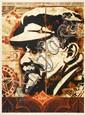 Shepard FAIREY (OBEY GIANT) (né en 1970) LENIN RECORD, 2005 Sérigraphie en couleurs