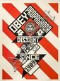Shepard FAIREY (OBEY GIANT) (né en 1970) CONSTRUCTIVIST BANNER (CREAM EDITION), 2010 Sérigraphie en couleurs